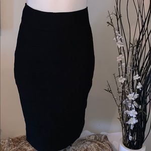 2/$15! Shinestar ribbon black pencil skirt